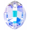 Swarovski Pendant 6734 Pure Leaf 14mm AB Crystal